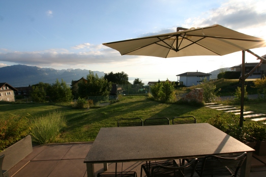 Terrasse and view